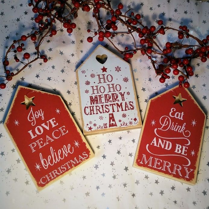 50% off Christmas House shaped plaques